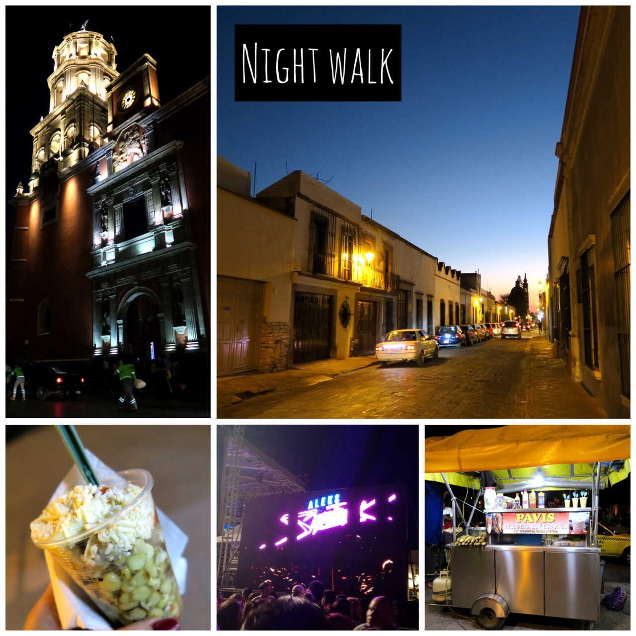 ケレタロ夜の散歩
