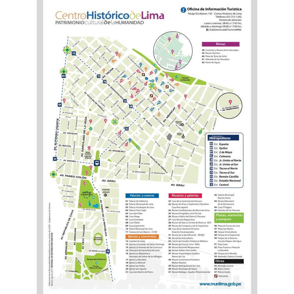 ペルーリマの地図