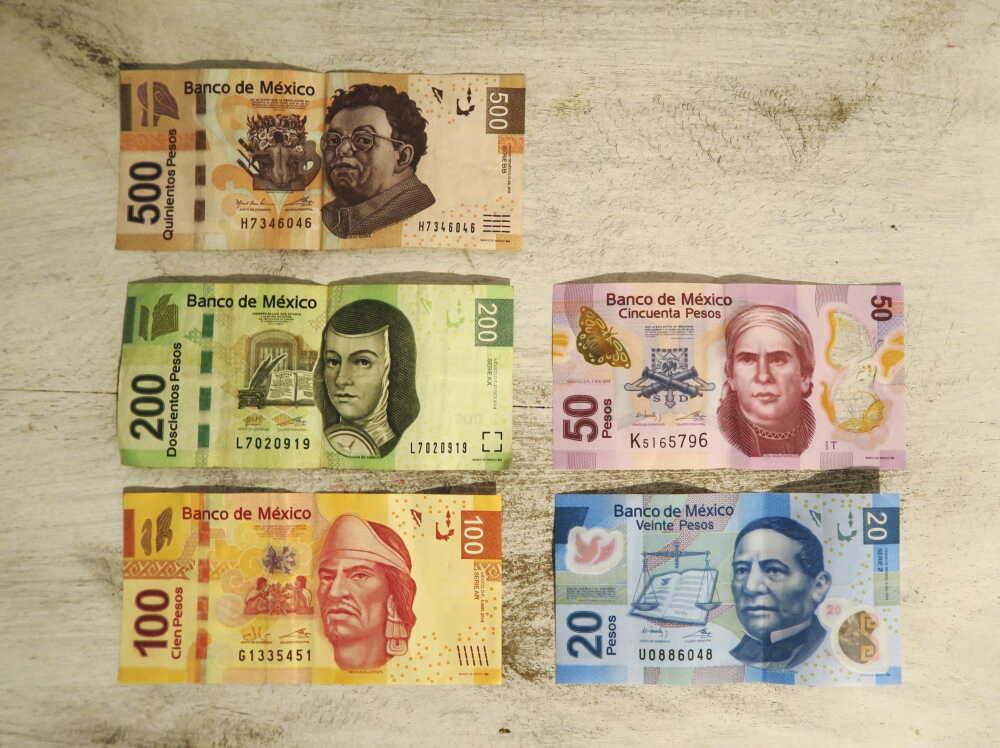 メキシコペソ紙幣