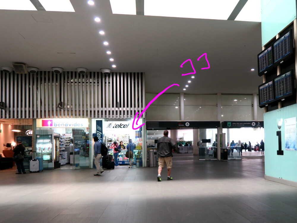メキシコ空港telcel