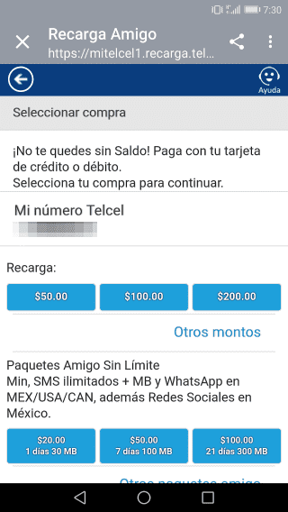 telcel-simカードチャージ